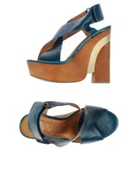Jeffrey Campbell | Green Sandals | Lyst