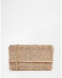 Dune | Pink Eternity Beaded Clutch Bag In Rose Gold | Lyst