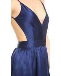 One By - Blue Babs Bibb Mini Dress - Lyst