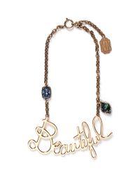 Lanvin Metallic Beautiful Crystal Necklace