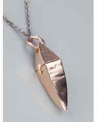 Bjorg - Pink Keep The Secret Pendant Necklace - Lyst