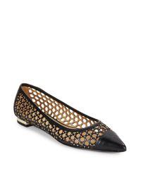 Enzo Angiolini | Black Arabella Studded Point-toe Flats | Lyst
