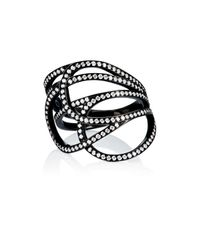 Repossi | Black La Ligne C Layered Ring | Lyst