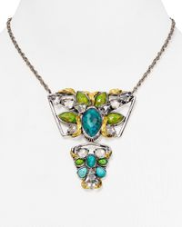 Alexis Bittar | Green Vert Deau Three-Part Encrusted Lucite Bib Necklace | Lyst