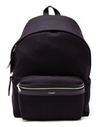 Saint Laurent | Black Classic Canvas Backpack for Men | Lyst