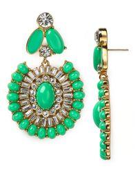 kate spade new york Green Capri Garden Statement Earrings