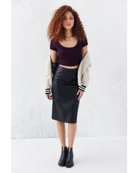 Truly Madly Deeply | Purple Layer Cake Cropped Tee | Lyst