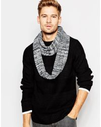 Minimum | Black Printed Snood for Men | Lyst