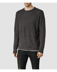 AllSaints | Gray Rothay Crew Jumper for Men | Lyst