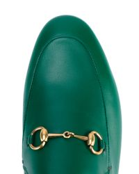 Gucci Green Jordaan Loafers