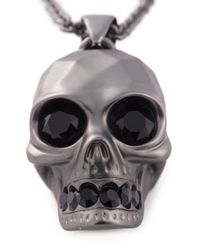 Alexander McQueen | Metallic Skull Pendant Necklace for Men | Lyst