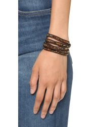 Chan Luu | Brown Beaded Wrap Bracelet - Pietersite Mix | Lyst