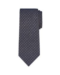 Calvin Klein | Blue Woven Spot Tie for Men | Lyst