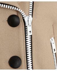Rag & Bone Natural Camel Biker Style Francis Peacoat