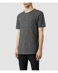 AllSaints - Gray Domin Crew T-shirts Usa Usa for Men - Lyst