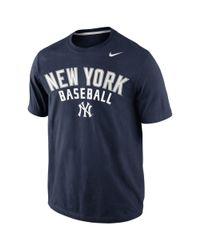 Nike Blue Mens New York Yankees Away Practice Tshirt for men