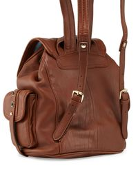 Cynthia Rowley | Brown Sienna Studded Leather Backpack | Lyst