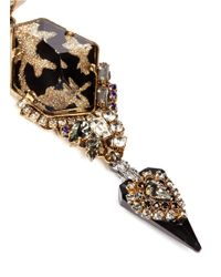 Erickson Beamon Metallic 'Sacred Geometry' Glitter Crystal Spike Earrings