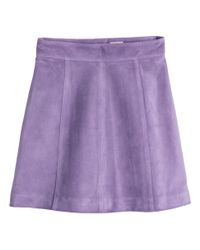H&M Purple Suede Skirt
