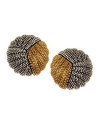 Lagos | Metallic Soire Two-tone Button Earrings | Lyst