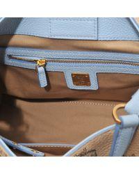 MCM Natural Small Corina Visetos Shoulder Bag