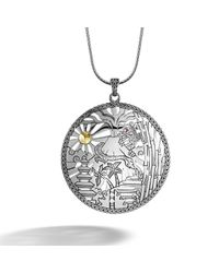 John Hardy | Metallic Heritage Limited Edition Large Round Pendant On Chain Necklace | Lyst
