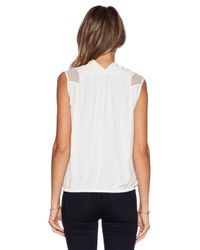 IKKS - White Sleeveless Blouse - Lyst