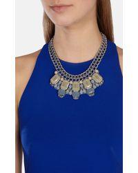Karen Millen | Gray Statement Necklace | Lyst