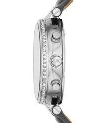 Michael Kors - Blue 39mm Sawyer Leather Strap Watch - Lyst