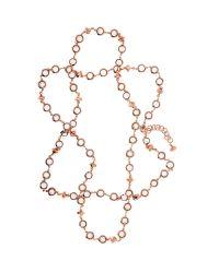 Ted Baker Pink Gemari Long Captured Crystal Necklace