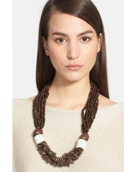 Eskandar | Brown Coconut Bead Necklace | Lyst