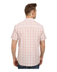 Perry Ellis | Pink Short Sleeve Plaid Pattern Shirt for Men | Lyst