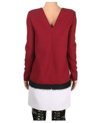 Albino - Red Bimaterial Dress - Lyst