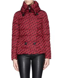 Moncler | Red 'palas' Polka Dot Down Jacket | Lyst