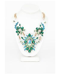 Missguided | Multicolor Statement Crystal Cut Out Necklace Multi | Lyst