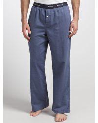 Tommy Hilfiger - Blue Jil Woven Herringbone Lounge Pants for Men - Lyst