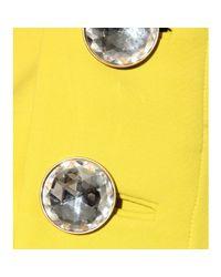 Marni - Yellow Embellished Wool Skirt - Lyst