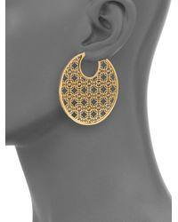 Michael Kors - Metallic Heritage Monogram Logo Hoop Earrings/2 - Lyst