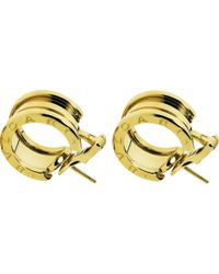 BVLGARI | B.zero1 18kt Yellow-gold Earrings | Lyst