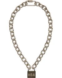 Hood By Air - Metallic Silver Padlock Necklace for Men - Lyst