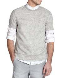 Vince - Gray Double Face Jersey Sweatshirt for Men - Lyst