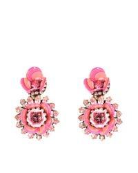 Shourouk - Pink Flower Aqua Earrings - Lyst