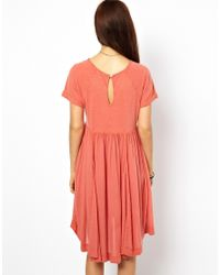 Free People | Red Dress in Lace with Mirror Embroidery | Lyst
