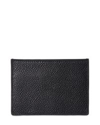Thom Browne - Black Pebble-grain Leather Cardholder for Men - Lyst