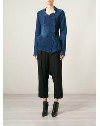 Rundholz - Blue Double Breasted Denim Jacket - Lyst