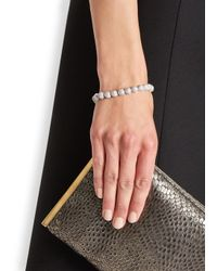 Eddie Borgo | Metallic Medium Pavé Crystal Dome Bracelet | Lyst