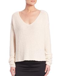 ATM - White Slouchy Long-sleeve Sweater - Lyst