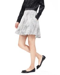Banana Republic | White Jacquard Fit-and-flare Skirt | Lyst