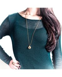 Becky Dockree Jewellery - Metallic Gold Double Gem Dome Necklace - Lyst