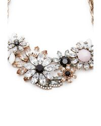 Forever 21 - Metallic Faux Gem Floral Statement Necklace - Lyst